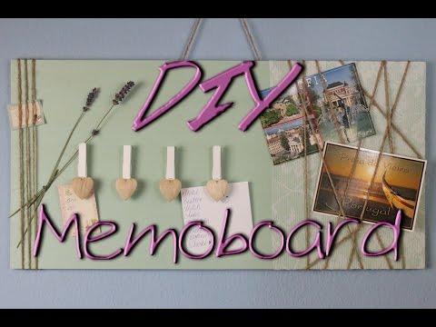 Memoboard selber machen - DIY Deko Ideen für zu Hause / fürs Zimmer - Geschenkideen - deutsch