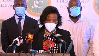 BREAKING NEWS: Lady Justice Martha Koome recommended for the position of Chief Justice by JSC