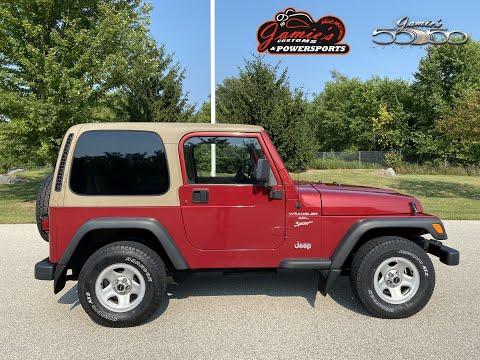 1999 Jeep® Wrangler Sport in Big Bend, Wisconsin - Video 1