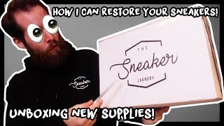 UNBOXING A BUNCH OF NEW SUPPLIES FROM THE SNEAKER LAUNDRY
