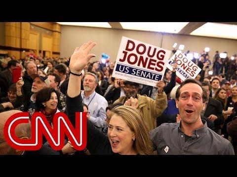 Cheers erupt at Jones headquarters