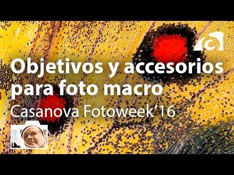 Objetivos y accesorios para foto macro