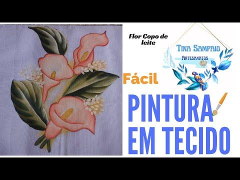 Pintar Flor Copo de Leite