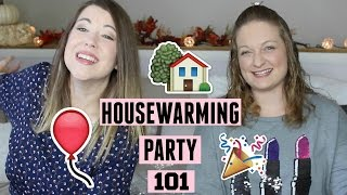 How to Host a Housewarming Party | DIY Invitations & Photo Booth Props!