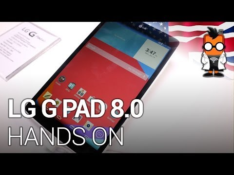 LG G Pad 8.0 hands on - ENGLISH