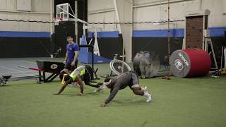 Elite Endurance football dynamic warm up for speed, agility, and power,