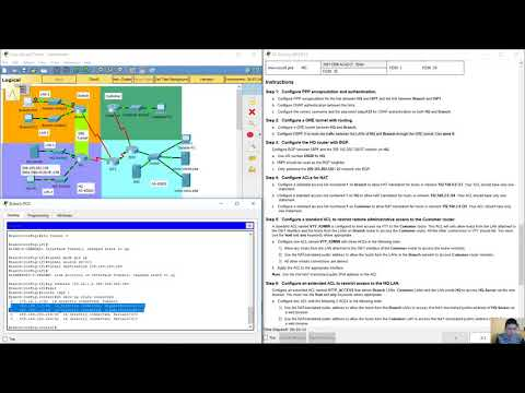 Connecting Networks 6.0 - Skills Assessment Packet Tracer - YouTube