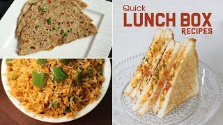 Kids Lunch Box Recipes | Healthy & Quick Lunch Box Recipes