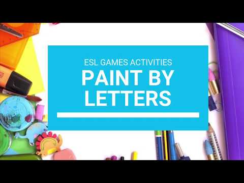 Paint By Letters - ESL Game