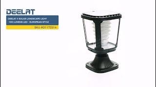 DEELAT ® Solar Landscape Light - 100 Lumens LED - European Style SKU #D1173514