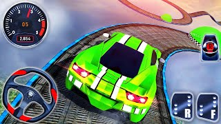 Impossible Stunt Car Tracks 3D – Green Sport Car Driving Simulator – Android GamePlay