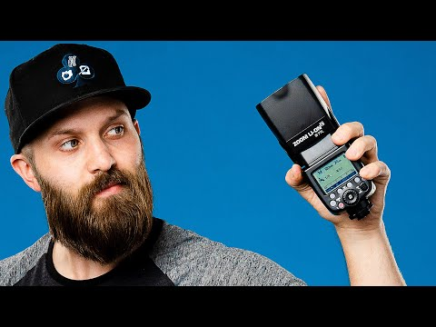 SPEEDLIGHT TUTORIAL - HOW TO USE THE GODOX V860II / Flashpoint Zoom R2 TTL Lithium Ion