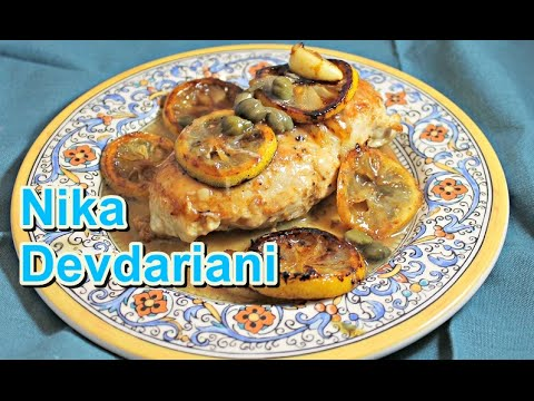 Charred Lemon Chicken Piccata (Traditional Recipe) - Nika Devdariani