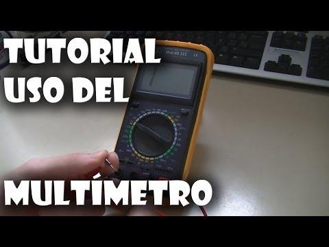 Cómo utilizar un multímetro/polímetro muy fácil y completo.