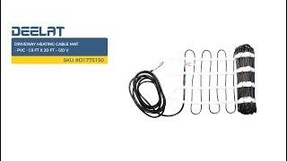 Driveway Heating Cable Mat - PVC - 1.9 FT x 20 FT – 120 V SKU #D1775150