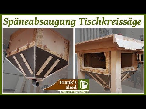 Absaugung für Tischkreissäge selber bauen | DIY dust collection tablesaw | Werkstatt einrichten