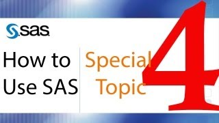 How to Use SAS - Special Topic - Working with SAS Datetime Data