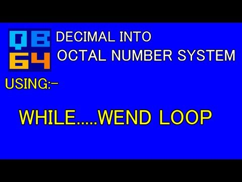 QB64: WAP to convert Decimal Numbers into Octal Number.