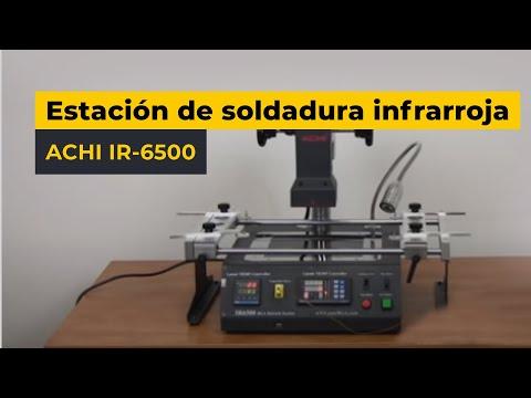 Estación de soldadura infrarroja ACHI IR-6500 — Video revista
