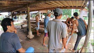 ฝนพรำ ใน Cambodia EP7:หมู่บ้านลาว วัดบ้านหางโค เมืองสตึงแตรง(เชียงแตง) ประเทศกัมพูชา
