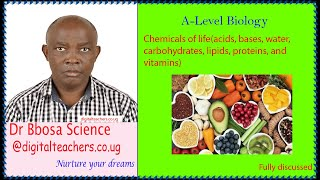 Chemicals of life (acids, bases, water, carbohydrates, lipids, proteins, and vitamins)