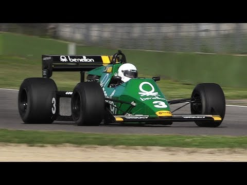 FIA Masters Historic F1 2018 Imola: 15 Minutes of Pure Cosworth 3.0 DFV V8 Sounds!