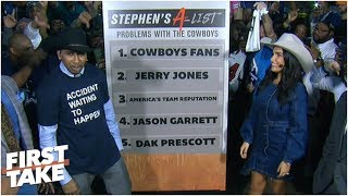 Stephen A. dissects Cowboys' top 5 issues in front of Dallas fans | First Take