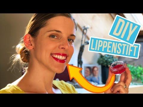 Lippenstift aus Wachsmalstift selber machen | Bunte Lippenpflege DIY