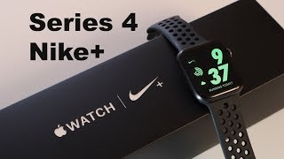 Apple Watch Nike+ | Series 4, Unboxing + First Look of All Watch Faces + Nike Features!