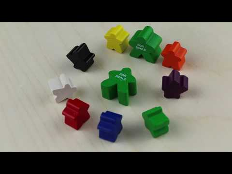 Meeple, Mini, Wood, Black video