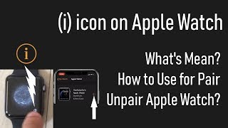 i icon on apple watch 6/ 5/ 4/ Series 3/2/1. Where is i icon on Apple Watch? and iPhone