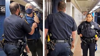 Man Asks Cops Why They Aren't Masked, Gets Removed From Subway