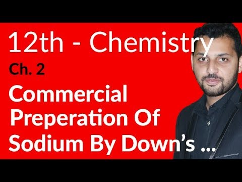 Fsc Chemistry book 2, Ch 2 - Commercial Preparation of Sodium By Down's Cell - 12th Class Chemistry