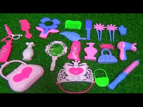 MINI GIRLS ACCESSORIES TOYS FOR KIDS WITH MINI HAIR STYLE MINI CROWN AND MORE (видео)