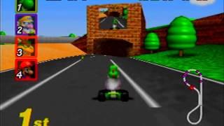 "Myles ~ Mario Kart 64 - Luigi Raceway 150CC N3lap 01'35""10"