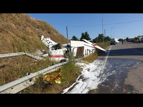 Αναγκαστική προσγείωση μονοκινητήριου αεροσκάφους σε παράδρομο της Εγνατίας Οδού…