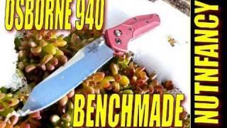 """Benchmade Osborne 940:  """"Bar Setting Balance"""" By Nutnfancy"""