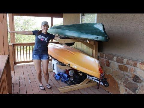 Building A Kayak Rack Yak Rak Dustin C Bush