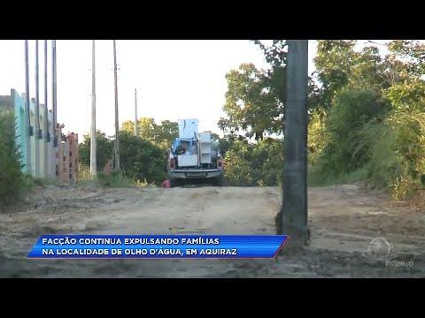 Narcotráfico continua expulsando famílias na localidade do OLHO D'ÁGUA em Aquiraz-Ce