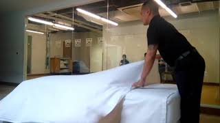 Standard Bed Making In Housekeeping (3 Sheets In Under 5 Minutes) TESDA Competency Assesment NC2