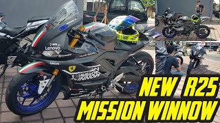 NEW R25 BLUE JADI FULL BLACK MATTE TEMA MISSION WINNOW | AJIB BANGET