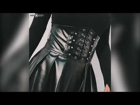 Black High Waist Pleated Gothic Skirts / Women Alternative Fashion Outfit