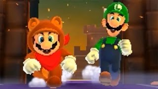Super Mario 3D Land 100% Walkthrough Part 9 - Special World 1 (All Star Coins & Gold Flags)