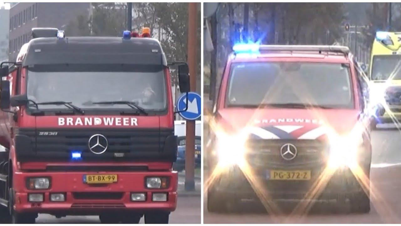 Hulpdiensten met spoed naar Grote Brand in Stomerij op de Lange Nieuwstraat in Ijmuiden