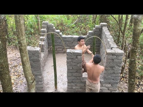 Primitive technology with survival skills Wilderness build house Roman part 3
