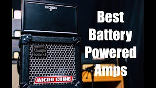 The 2 BEST Battery Powered Amps   Boss Katana Mini & Roland Micro Cube