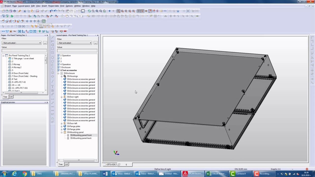 Видео урок: Eplan - ProPanel – Дефиниране на обекти в Layout Space и подготовка на табло за монтаж