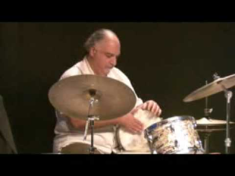 Michael Zerang  djembe+bass drum online metal music video by MICHAEL ZERANG