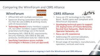 CBRS Alliance Technical Specifications for Networking & Coexistence