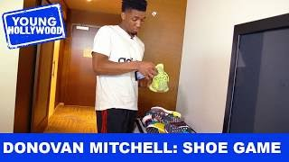 Donovan Mitchell Shows Off His Shoe Game